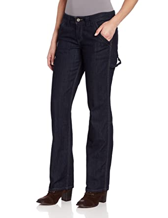 Dickies Women's Relaxed Fit Denim Carpenter Pant, Indigo Blue, 24 ...