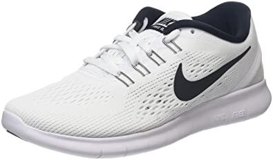 4e25e3828cd1f Nike Womens Free Rn White Black Running Shoe 8 Women US