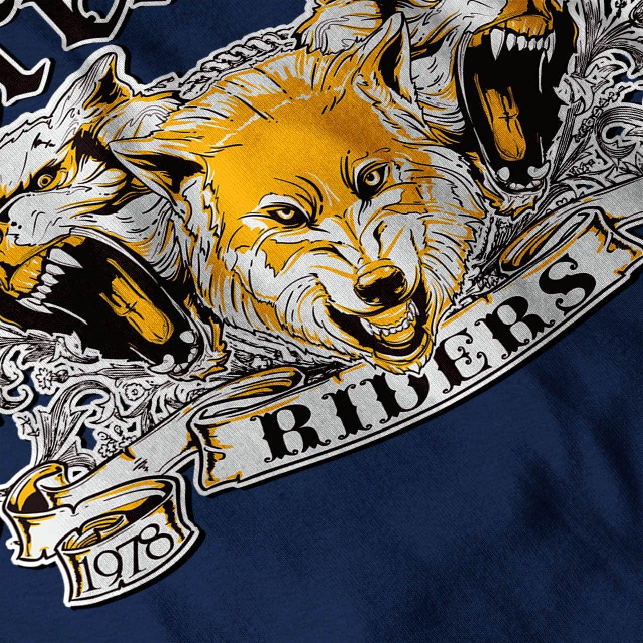 Wellcoda Werewolves Riders Biker Mens Tank Top Biker Fit Lifestyle Sports Shirt