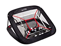 Spornia SPG PRO Golf Chipping Net - Outdoor/Indoor - w/Flag Pole and Golf Towel - 30 in. Large Collapsible Target
