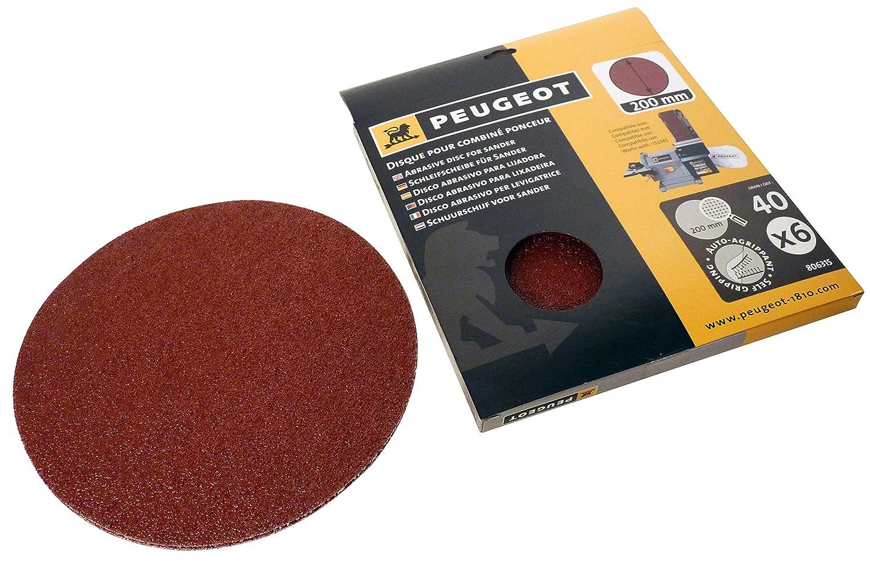 grano A 80 para Lijadora combinada ENERGYSand 200ASP Juego de 6 discos Velcro /Ø 200 mm