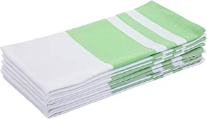 Madras Collections Kitchen Towels Dish Towels (6 Pack, Size 27x19 Inches) 100% Natural Pure Cotton Dishcloths Sets Tea Towels Cotton Dish Towels for Kitchen (Mint)