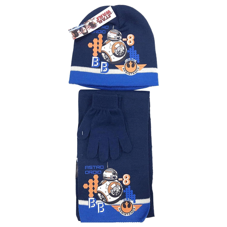 Multicolore Guanti Sciarpa Cappello Coordinati Invernali Star Wars HQ4203 Set 3 Pezzi 52, Nero Bambino