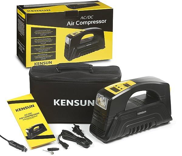 you will need a Kensun small portable air compressor.