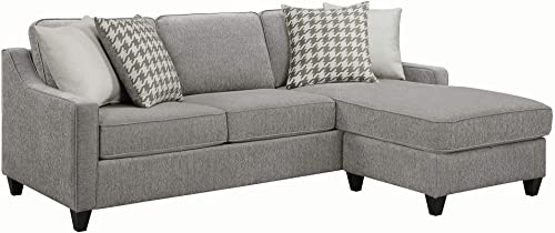 Coaster Home Furnishings Montgomery Upholstered Sectional, Charcoal