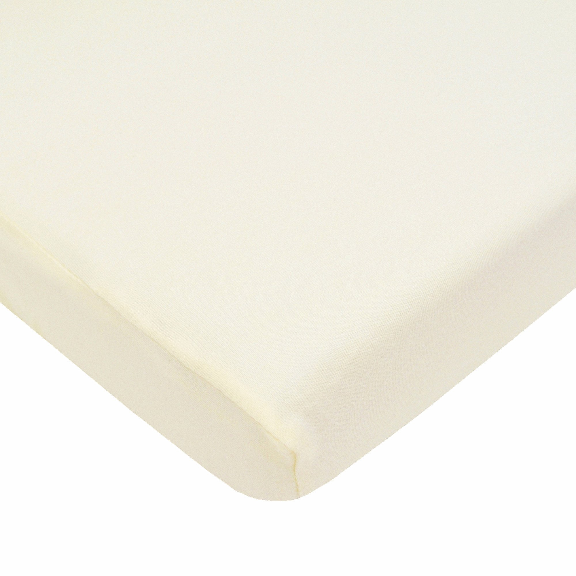 American Baby Company 100% Cotton Value Jersey Knit Fitted Portable/Mini-Crib Sheet, Ecru