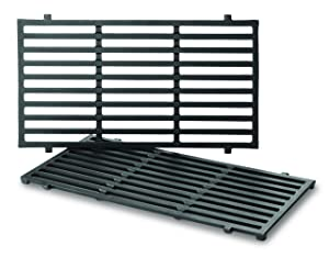 Weber 7637 Porcelain-Enameled Cooking Grates for Spirit 200 Series Gas Grills (2 Grates/pack) (17.5 x 10.2 x 0.5)