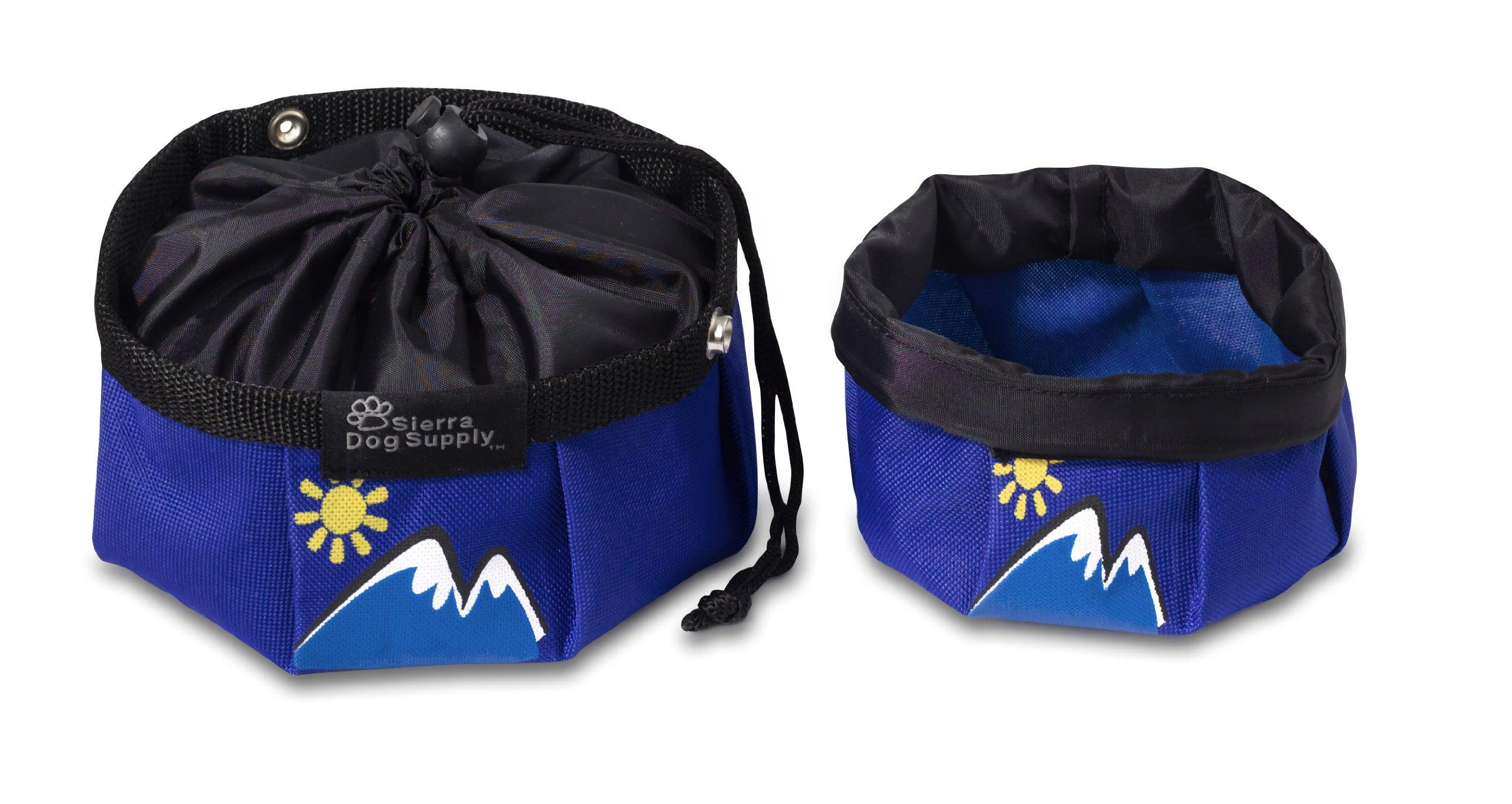 Doggles Dog Travel Bowl, Large, Blue