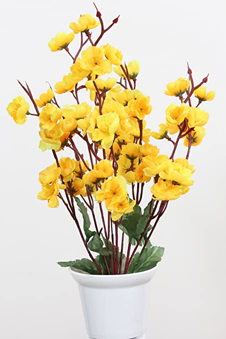 Buy home decor artificial flowers with pot best quality realistic home decor artificial flowers with pot best quality realistic natural look faux flower arrangement for home mightylinksfo