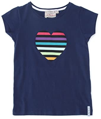 508759c531f14 Little Marcel Teecoeur - T-Shirt - Mixte Enfant - Bleu (Marine/Coeur ...
