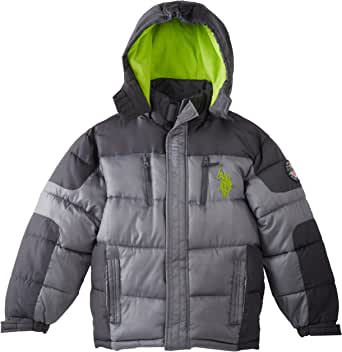 Amazon.com: U.S. Polo Assn. Big Boy's Bubble Jacket (More ...