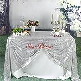 SoarDream strass glamour et Paillettes Argenté Nappe en tissu pour Table de mariage/Dessert