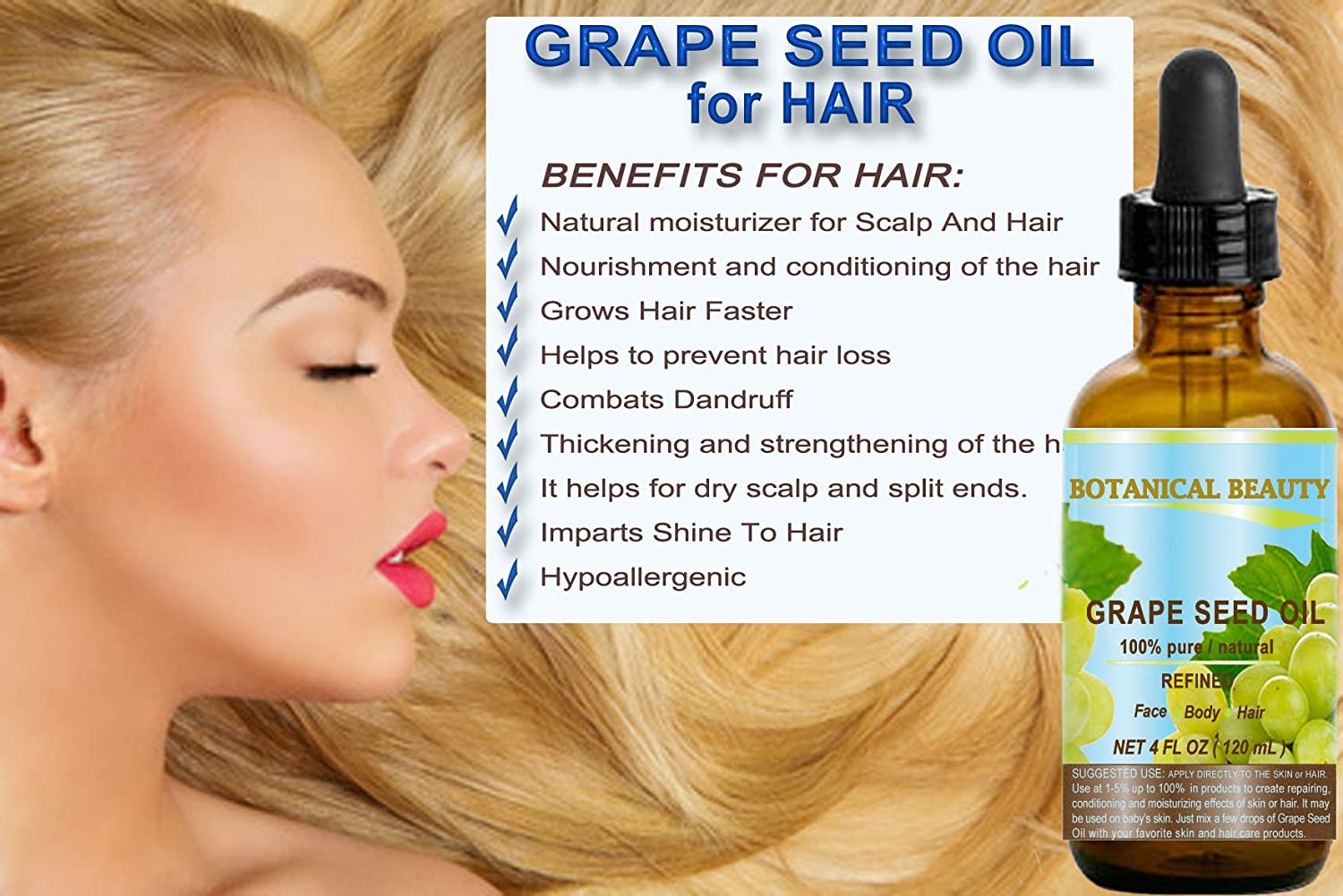 Grape seed oil for hair: application, reviews 56