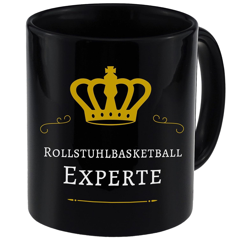 Baloncesto en silla de ruedas experto negro taza: Amazon.es ...