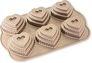 product image for Nordic Ware Cast Bundt Bakeware Tiered Heart Cakelets