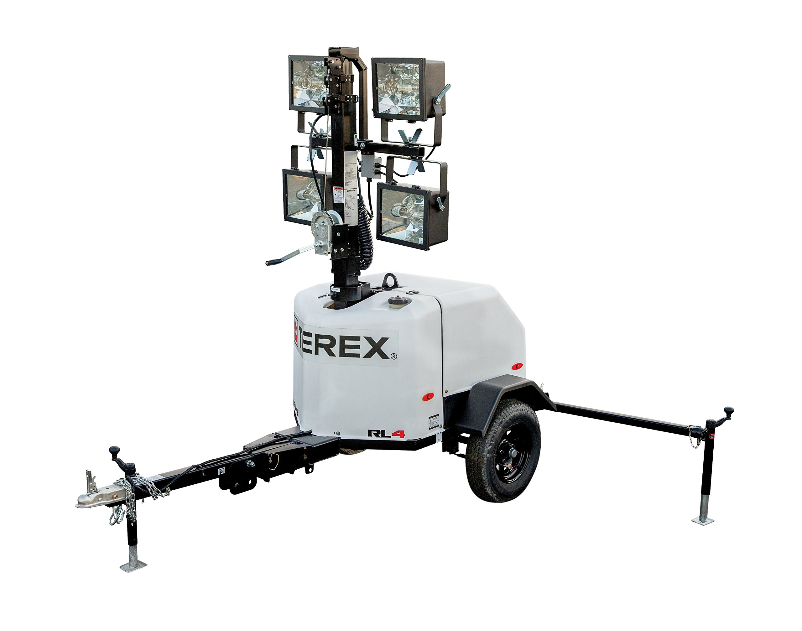 Terex RL4 Compact Portable Light Tower, 6kW Generator With 10.7 HP Diesel Engine, 4000 Watts of Light