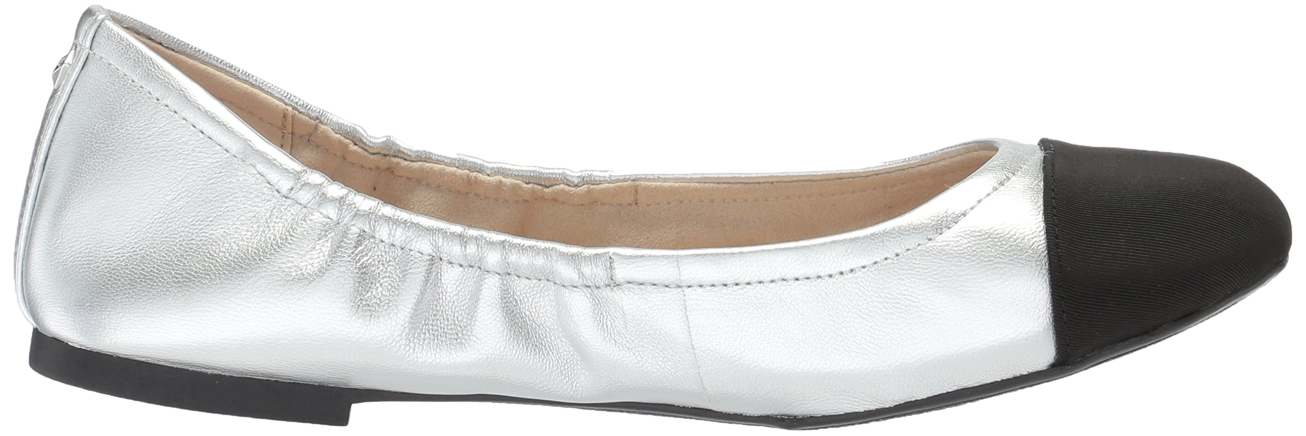 Sam Edelman Women's fraley Ballet Flat, Soft Silver/Black, 7 Medium US by Sam Edelman (Image #7)