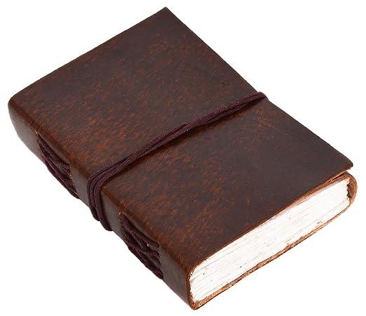 """34 opinioni per Gusti Pelle nature """"Ebony"""" Pelle Libro Libro Block Notes Blocco per Appunti DIN"""