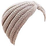 Toocool - Turbante donna cuffia retro fascia lurex cappello tricot maglia nuovo KT2