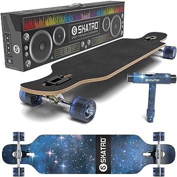 SKATRO Drop Through Longboard Skateboard Freeride - Includes T-tool: Amazon.es: Deportes y aire libre