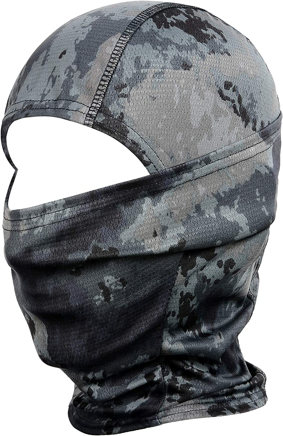 WTACTFUL Camouflage Balaclava Hood Ninja Outdoor Cycling Motorcycle Motorbike Hunting Military Tactical Airsoft Paintball Helmet Liner Gear Wind Dust Sun UV Protection Breathable Full Face Mask SB-01 : Clothing