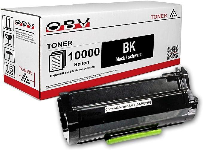 Obv Kompatibler Toner Als Ersatz Für Lexmark 602h 60f2h00 Für Lexmark Mx310 Mx410 Mx510 Mx511 Mx611 10000 Seiten Schwarz Bürobedarf Schreibwaren