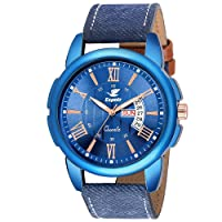 Espoir Analogue Stylish Blue Dial Day and Date Men's Boy's Watch - Blue Ray 0507