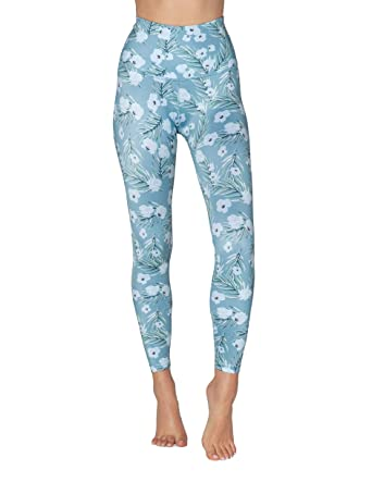 6bd49bd1d362c0 Beyond Yoga Women's High-Waisted Midi Leggings Sky Blossoms X-Small 25
