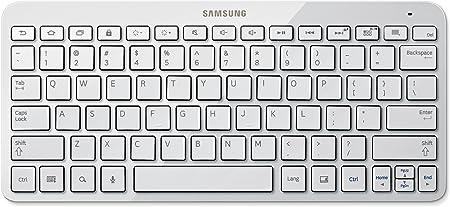 Samsung EJ-BT230 - teclados para móviles (Color Blanco, Samsung, QWERTY, Inglés, Android 4.4, Android 5.0, Android 5.1, Batería)