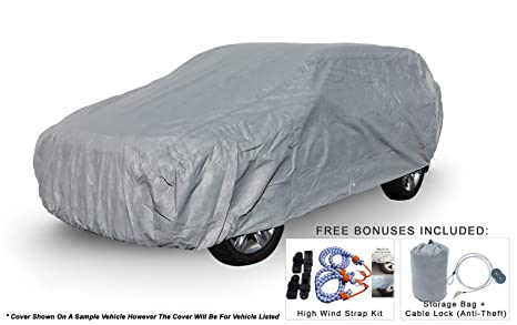 Weatherproof Van Car Cover Compatible with Toyota Sienna 2004-2019 - 5L Outdoor & Indoor - Protect from Rain, Snow, Hail, UV Rays, Sun - Fleece Lining ...