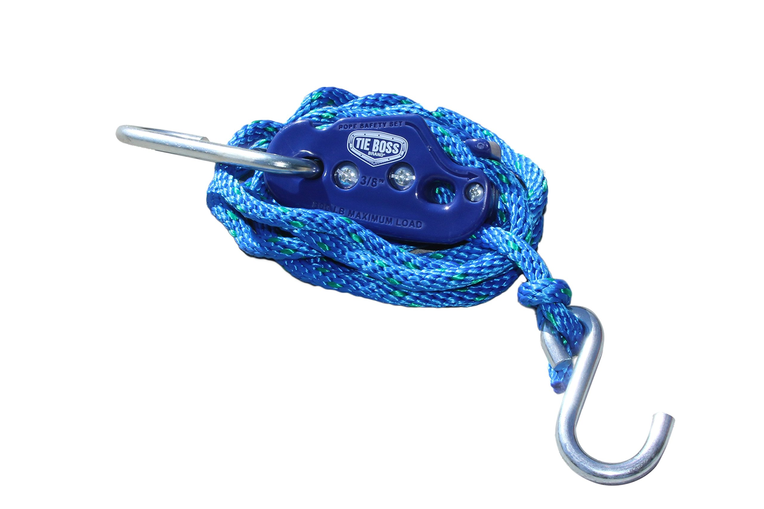 Tie Boss Pulley Lighting Accessories with 10-Feet Rope, 3/8-Inch