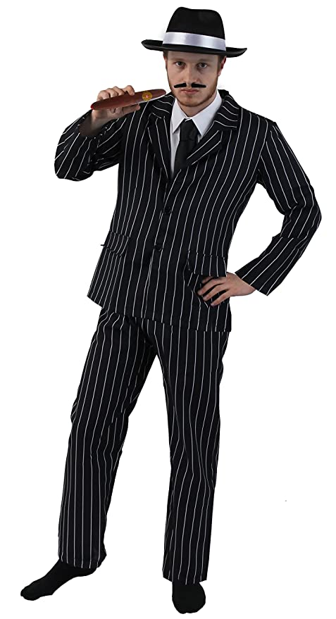 33ccc1adc58e ADULT 1920 s GANGSTER FANCY DRESS COSTUME FOR MEN - PINSTRIPE SUIT ...