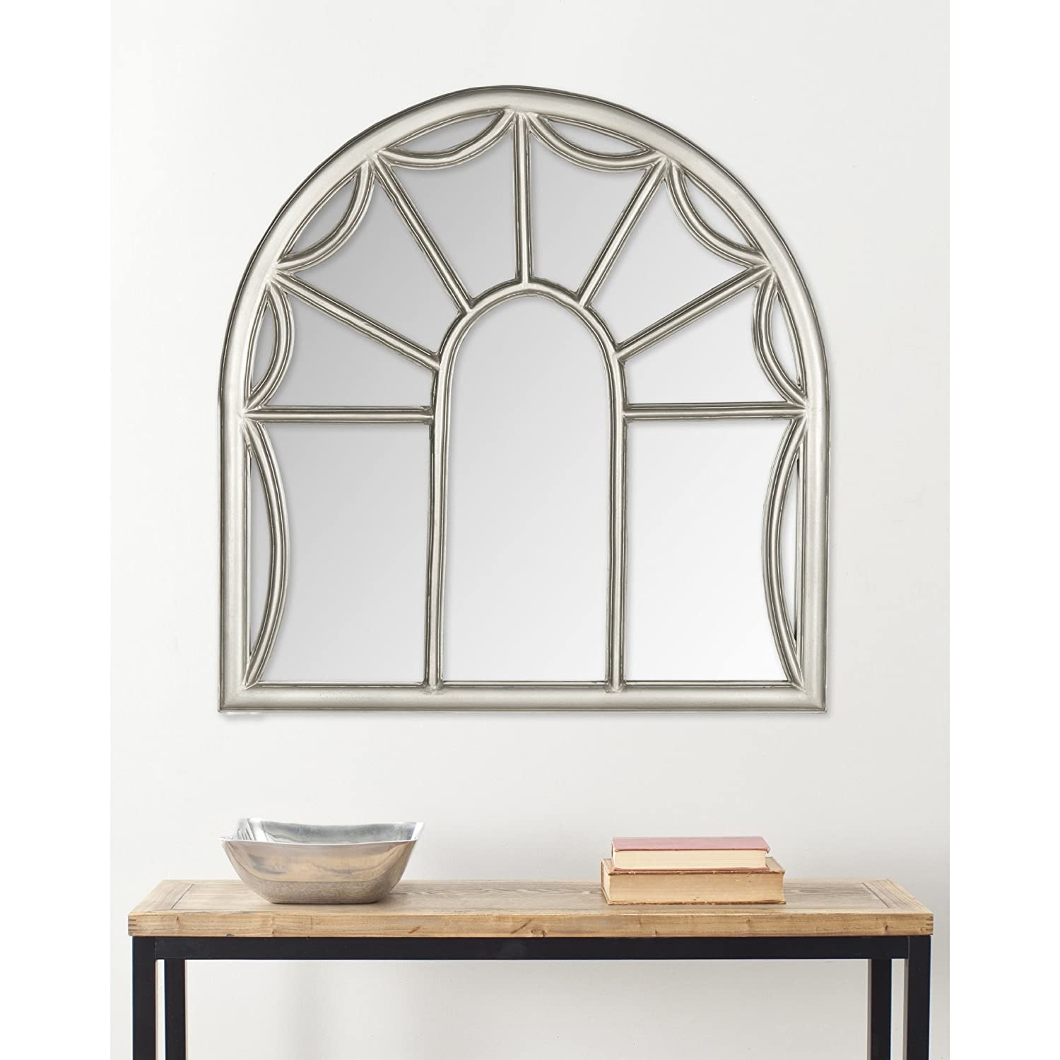 Amazon.com: Safavieh Home Collection Palladian Mirror, Pewter: Home ...