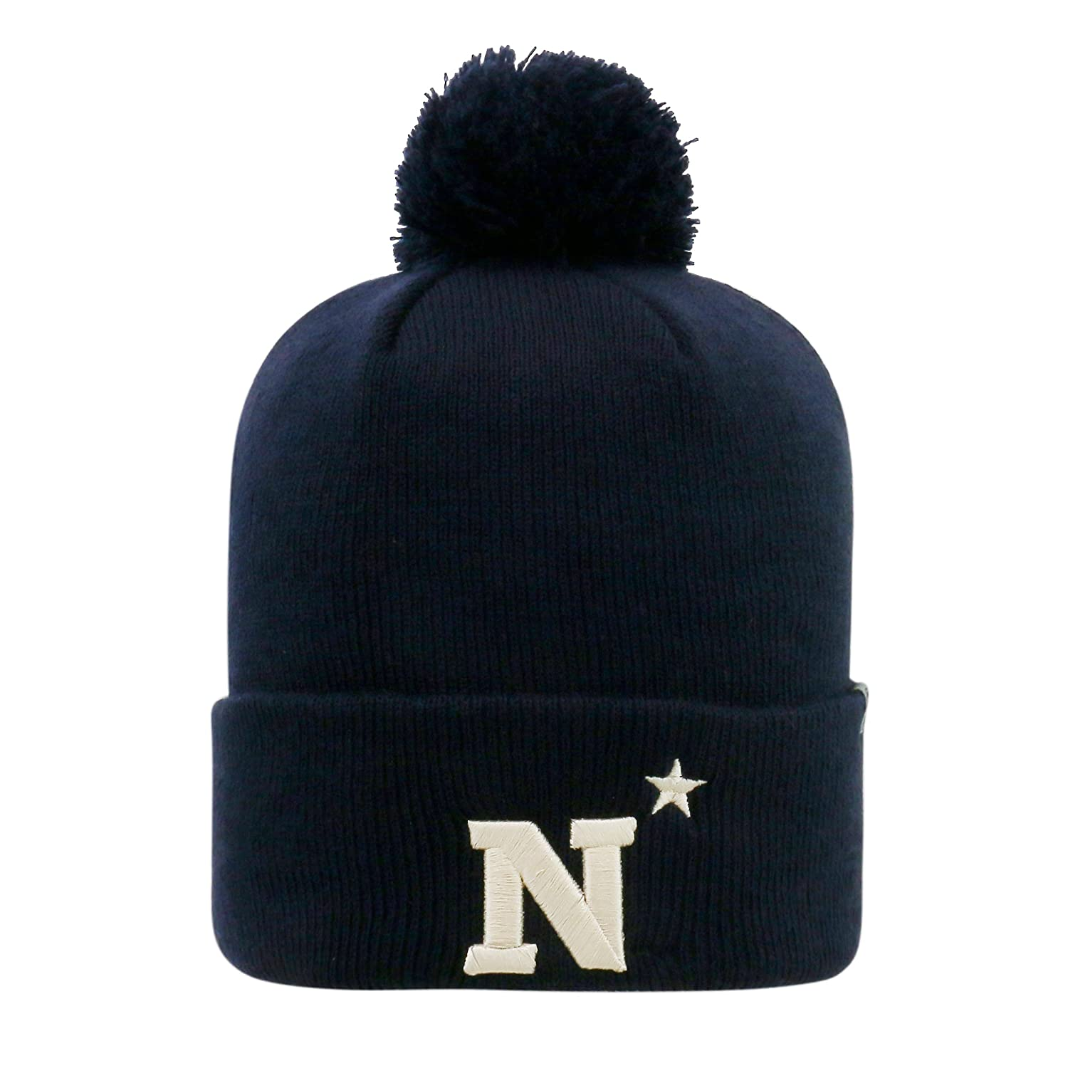 Top of the World両面Cuff Beanie Hat with Pom Pom – NCAA Cuffedニットキャップ  Navy Midshipmen B01M6Z4OIE