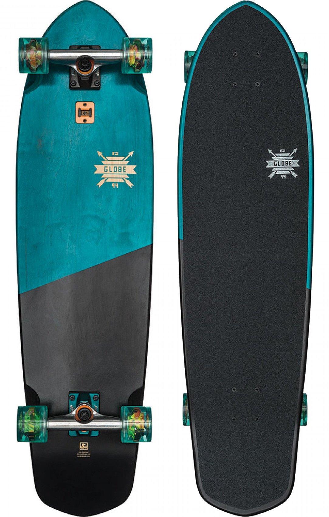 GLOBE Skateboards Blazer XL Longboard Complete Skateboard, Blue Tropics, Size 36