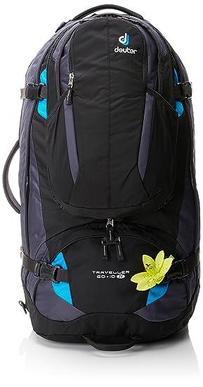 Deuter Traveller 60 + 10 SL Mochila, Unisex Adulto, Negro (Black-Turquoise), 70 Centimeters: Amazon.es: Deportes y aire libre