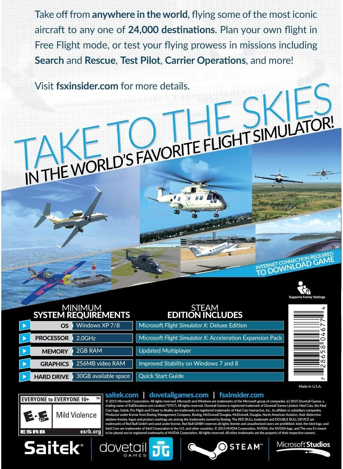 amazon com microsoft flight simulator x steam edition for pc rh amazon com Flight Simulator 2017 Flight Simulator X Steam Edition