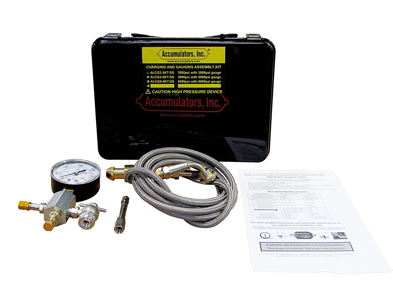 Accumulators AI-CG3-3KT-SS Charging Kit, 3000 psi