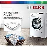 Bosch Siemens Original Square Frame Pedestal for Washing Machine (Powder Coated Steel Stand - White)