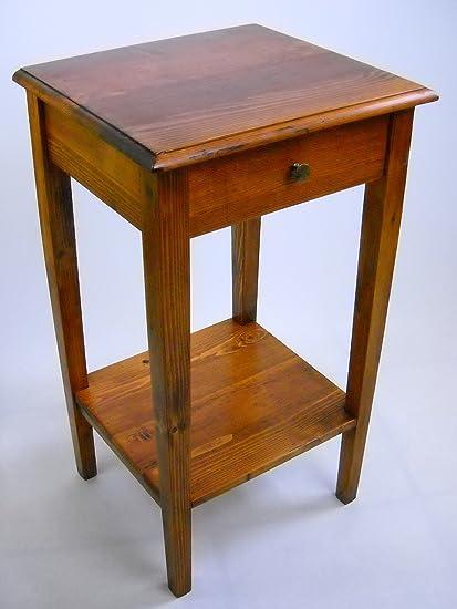 Comodino in stile arte povera,comodino in legno massello di abete ...