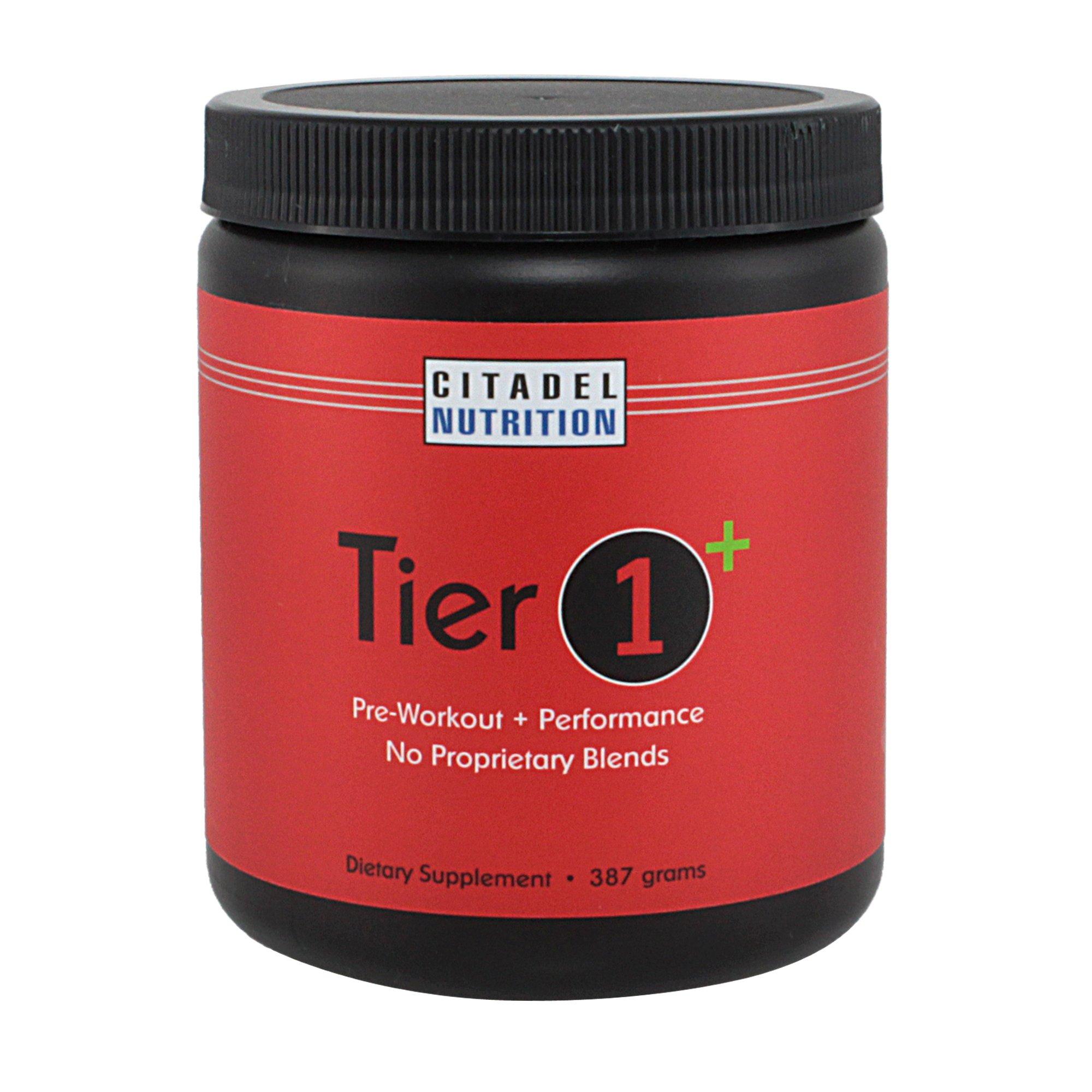 Tier 1 Plus Preworkout / Performance Supplement (387g) by Citadel Nutrition
