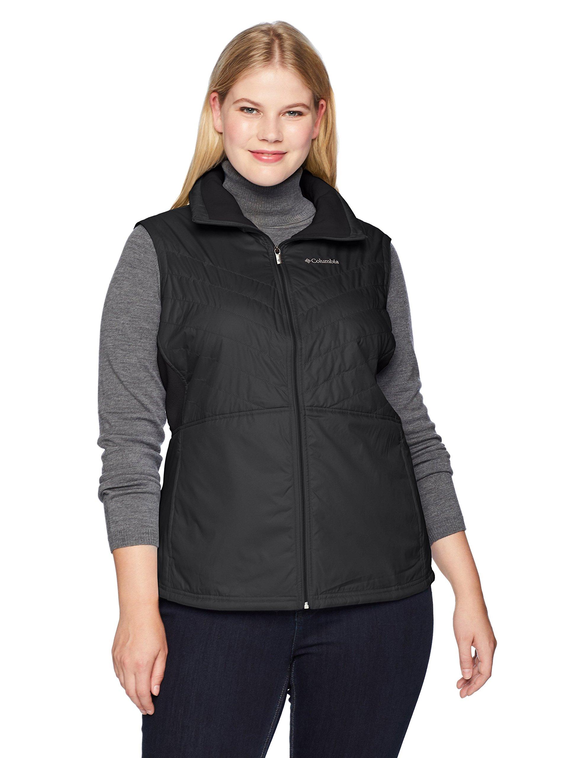 Columbia Women's Plus Size Mix It Around II Vest, Black, 1X
