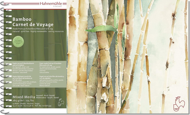 Mixed media Carnet de Voyage Bamboo 265G/M², 15,3x 25cm, 15blatt Hahnemühle 4336941157
