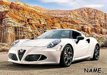 Puzzle 500 Teile - Alfa Romeo 4c - incl. Name - Sportwagen / Coupe ...
