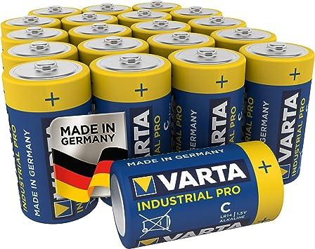 VARTA Industrial - Pilas alcalinas C / LR14 / Baby (pack de 20 ...