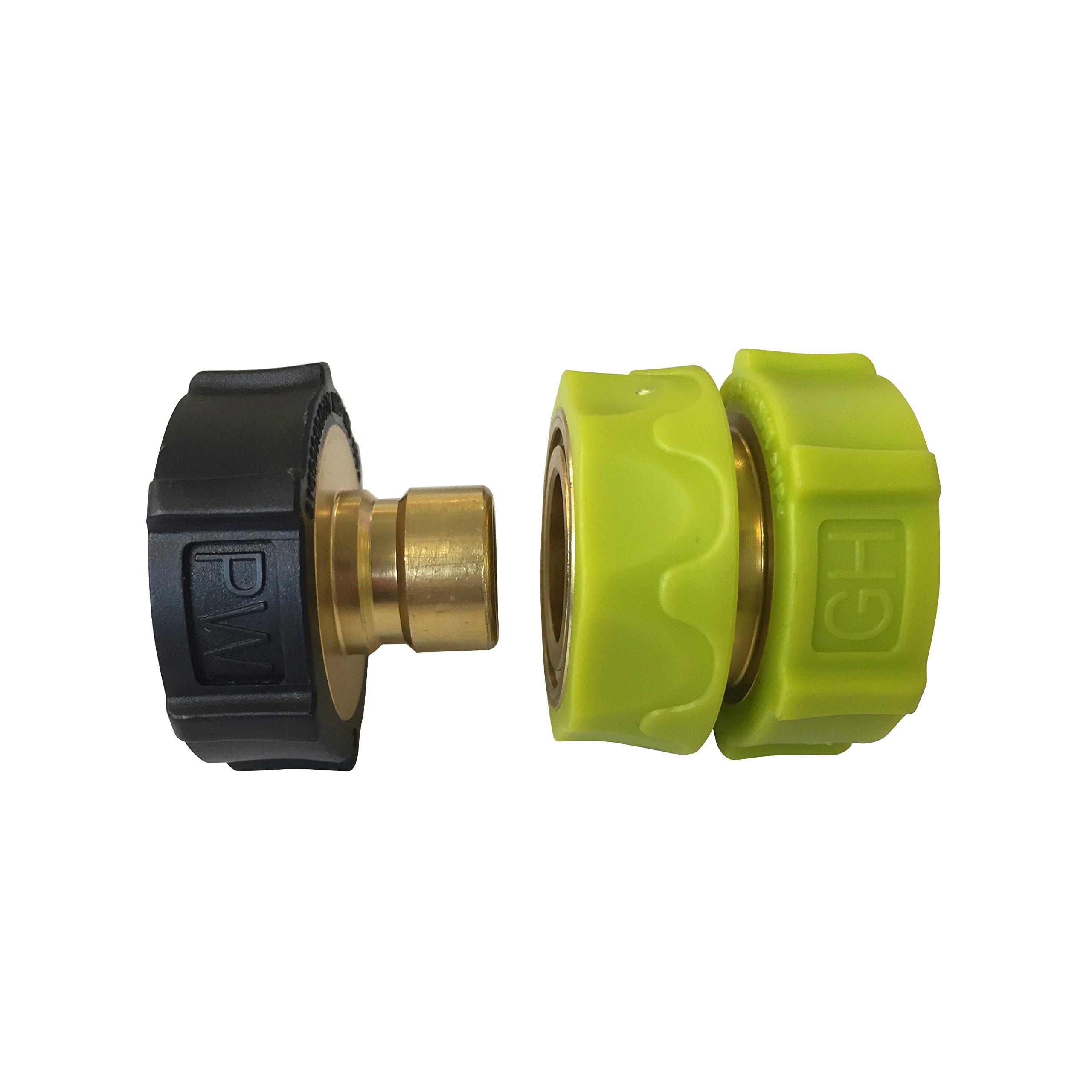 Sun Joe SPX-UQC Universal Brass/Aluminum Pressure Washer Garden Hose Quick-Connect Kit by Sun Joe