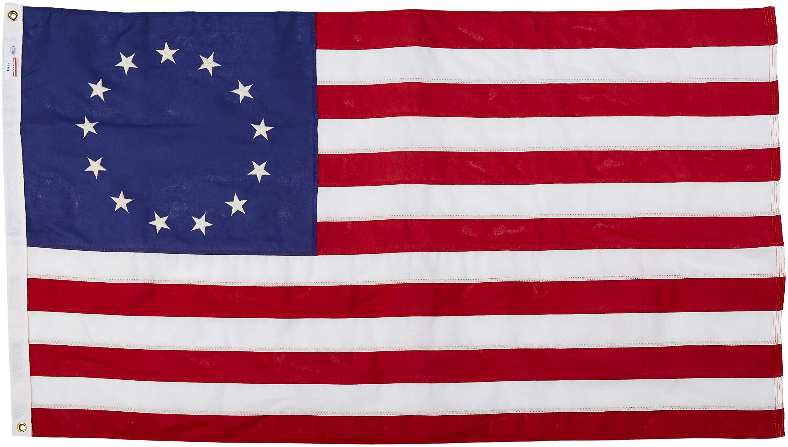 Valley Forge Betsy Ross Flag 3x5 Foot Cotton/Best by Valley Forge