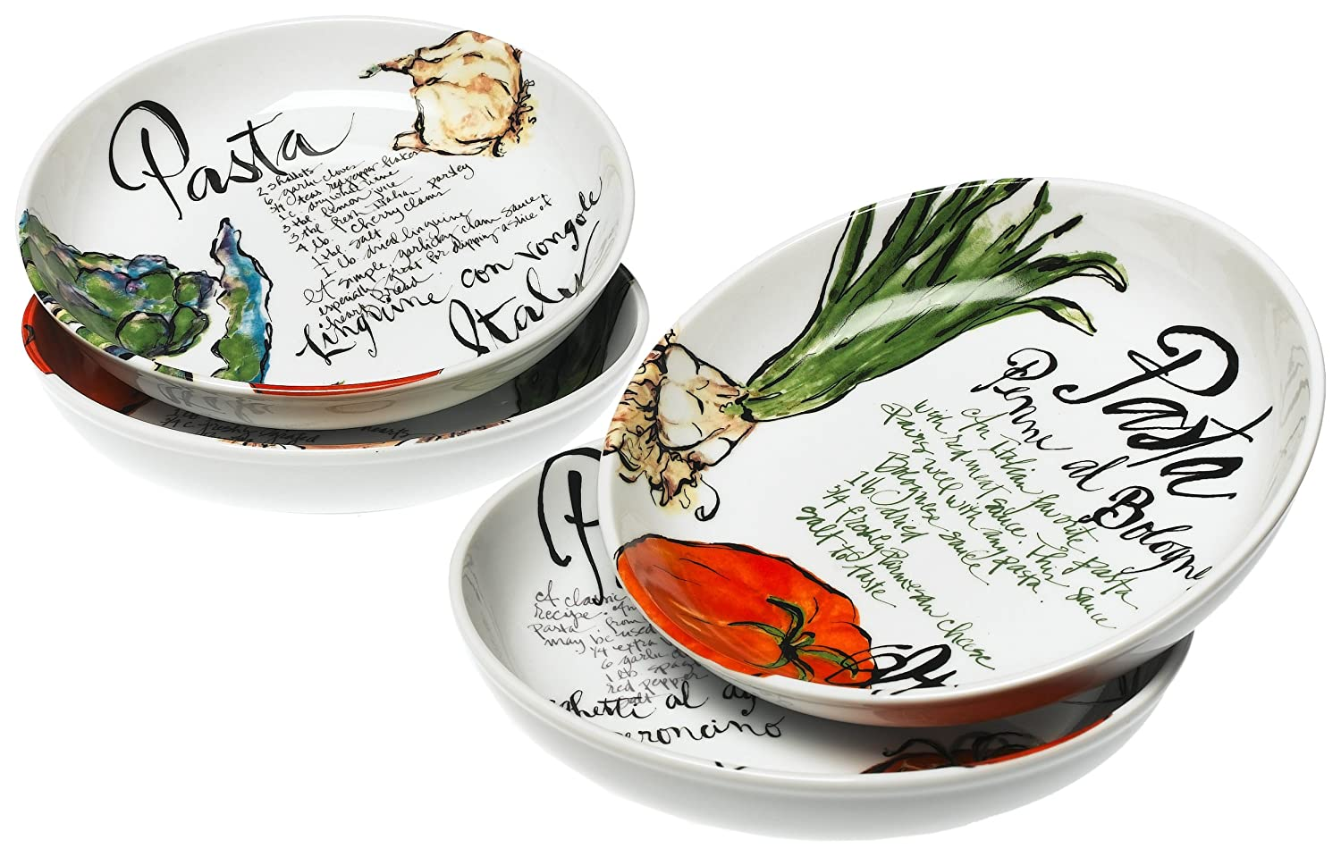 Rosanna Pasta Italiana Pasta Bowls Set of 4 38305