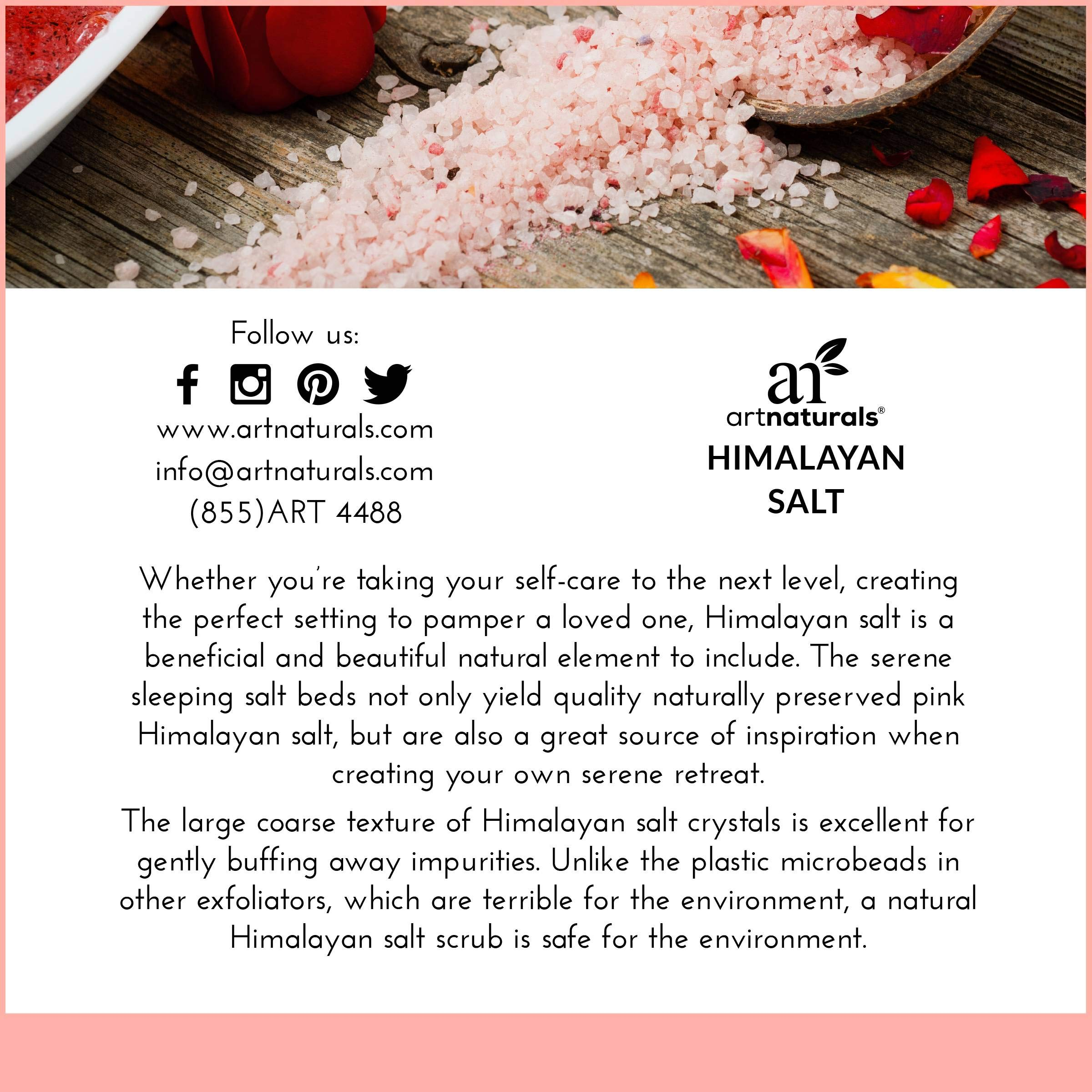 ArtNaturals Himalayan Rock Salt Lamp - Hand Carved Pink Crystal from Pure Salt in the Himalayas - for Rest, Relaxation and Energy - Real Wooden Base by ArtNaturals (Image #3)