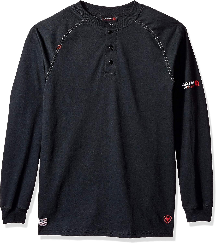 ARIAT Men's Flame Resistant Long Sleevehenley Shirt